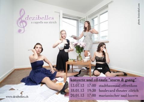 Dezibelles (v.l.n.r): Rebekka Bräm, Anna Liechti,  Andrea Fischer, Mélanie Lacroix
